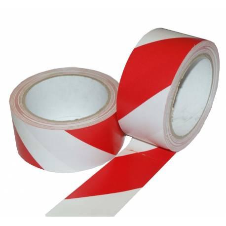 Lepící páska výstražná červeno-bílá 48 mm x 22m