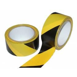 Páska lepící výstražná žlutočerná 48mm x 22m