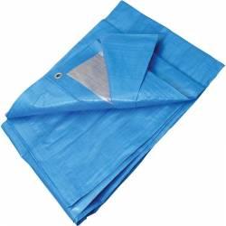 Překrývací plachta s oky -modrostříbrná