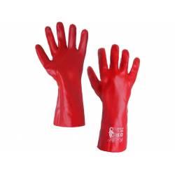 Pracovní celomáčené rukavice SELA vel.č.10