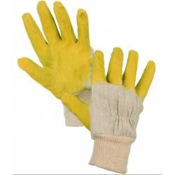 Pracovní rukavice Twite/deta vel.č.10 polomáčené v přírodním latexu