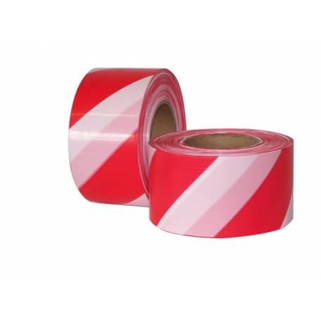 Ohraničovací páska červenobílá s nápisem - ZÁKAZ VSTUPU
