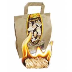 Podpalovač z dřevité vlny - taška 50 ks