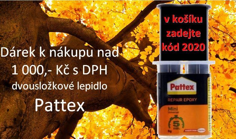 Lepidlo Pattex ZDARMA k Vašemu nákupu nad 1000,- Kč s DPH
